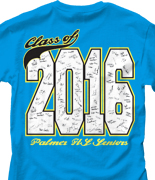 Senior Class T Shirt - Class Signatures desn-547d2