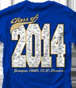Senior Class T Shirt - Class Signatures desn-547c8