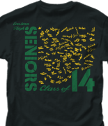 Senior Class T Shirt - Sign Square desn-544d3