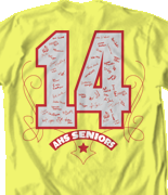 Senior Class T Shirt - Fun Template desn-546f1