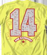 Senior Class T Shirt - Signature Spin desn-639s3