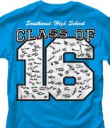 Senior Class T Shirt - Big Letter desn-351g6