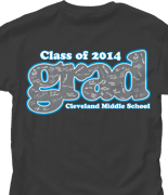 Senior Class T Shirt - Grad Signatures desn-535g2