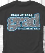 Senior Class T Shirt - Grad Signatures desn-535g2