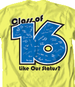 Senior Class T Shirt - Status Template desn-542s7