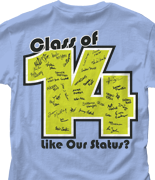 Senior Class T Shirt - Status Template desn-542s1