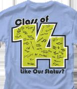 Senior Class T Shirt - Status Template desn-542s2