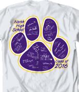 Senior Class T Shirt - Paw Names clas-906p4