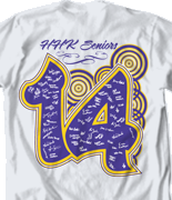 Senior Class T Shirt - Urban Sign desn 541u1