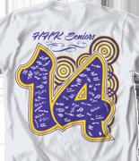 Senior Class T Shirt - Hyp Year clas-866h8