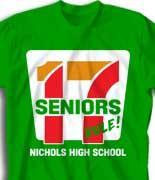 Senior Class T Shirt -17 Logo cool-261l1