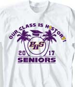 Senior Class T Shirt - Paradise Grads cool-219p2