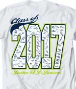 Senior Class T Shirt - Class Signatures desn-547d7