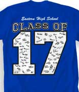 Senior Class T Shirt - Big Letter desn-351m8