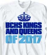 Senior Class T Shirt - Crown Seniors logo-233c5
