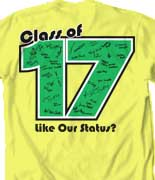 Senior Class T Shirt - Status Template desn-542s8