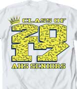 Senior Class T Shirt - Crown Collegiate desn-485c4