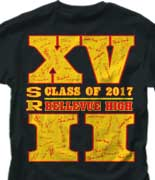 Senior Class T Shirt - Roman Year desn-227t1