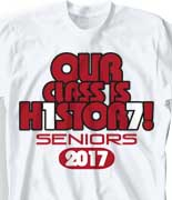 Senior Class T Shirt - Big Respect desn-548g3