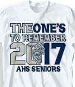 Senior Class T Shirt - Ones to Remember cool-218o3