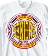 Senior Class T Shirt - Classic Racer cool-1c3