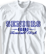 Senior Class T Shirt - College Authority desn-579c1