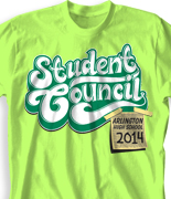 Student Council Shirt  - Student Council Note desn-912s1