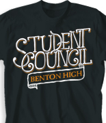 Student Council Shirt Design - Vintage Council desn-920v1