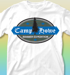Summer Camp Shirt Designs - Oval clas-519p4