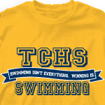 Swim TeamT Shirt - Jersey Banner 823j6