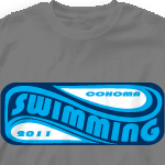 Swim Team T Shirt - Wave Pool 461w3