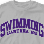 Swim Team T Shirt - Athletic Arch 728a3