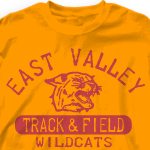 &quot;Track Team Shirt - Old School Track-341o1&quot;