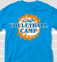 Volleyball Camp Shirt Design - Hawaiian Crown2 clas-484h6