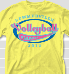 Volleyball Camp Shirt Design - Vista Emblem clas-743v9