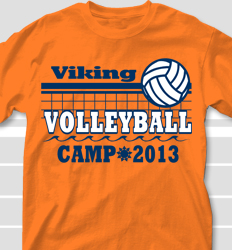Volleyball Camp Shirt Design - Volley Camp desn-699v1