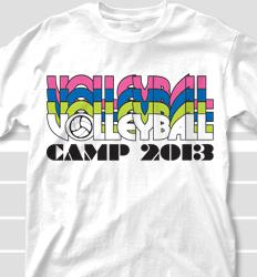 Volleyball Camp Shirt Designs - Nassau clas-792p8