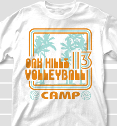 Volleyball Camp Shirt Designs - South Beach clas-762t3