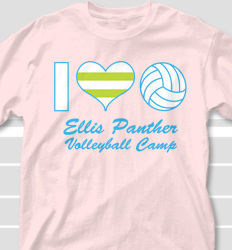 volleyball camp shirt design volley love desn 701v1 - Volleyball T Shirt Design Ideas