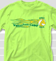Volleyball Camp Shirt Design - Fireband clas-21g4