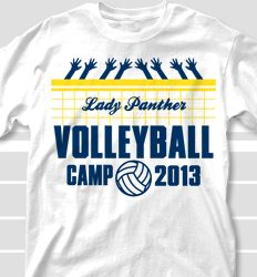 volleyball camp shirt design volley height desn 698v1 - Volleyball T Shirt Design Ideas