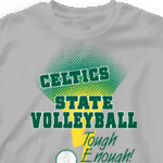 Custom Team Volleyball Shirts - Strikers 277s2