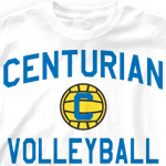 Custom Team Volleyball Shirts - Mascot Phys Ed 829m8