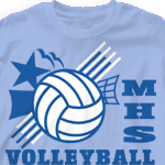 Volleyball T Shirt - Seventy Net 283s1