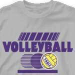 Volleyball Team Shirt - Blurr Ball 281b2