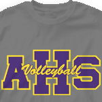 Volleyball Team Shirt - Athletic Letters 264a6