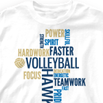 Volleyball Team Shirts - Random Words 268r7