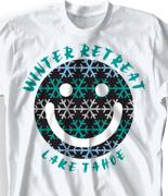 Winter Retreat T Shirt - Happy Camper desn-655h2
