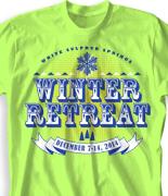 Winter Youth Retreat T Shirt  - Wonderland desn-864w1