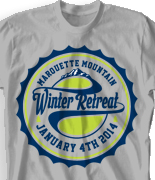 Winter Retreat T Shirt  - Classic Rally desn-782c4